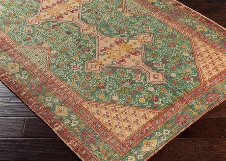 Surya Shadi Rectangular Khaki, Teal & Rose Area Rug