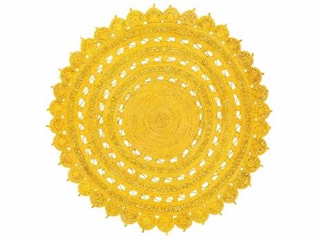 Surya Sundaze Round Bright Yellow Area Rug SYSDZ1001ROU