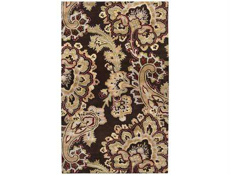 Surya Sea Rectangular Brown Area Rug