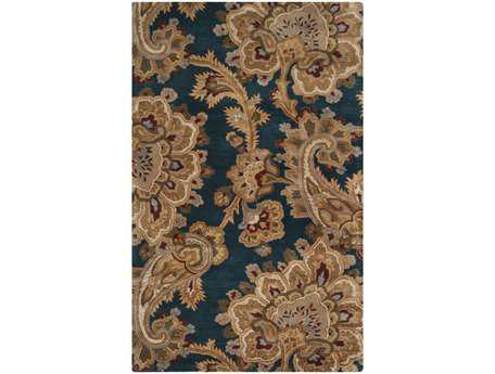 Surya Sea Rectangular Blue Area Rug