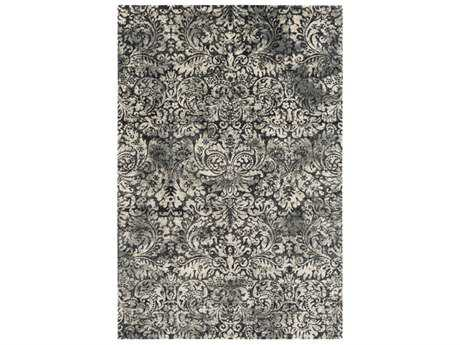 Surya Saverio Rectangular Medium Gray, Black & Cream Area Rug