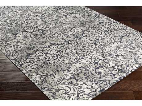 Surya Saverio Rectangular Medium Gray, Black & Cream Area Rug