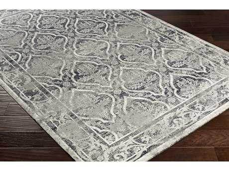 Surya Saverio Rectangular Medium Gray, Cream & Navy Area Rug