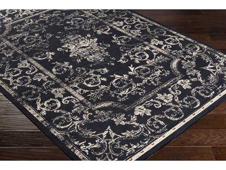 Surya Saverio Rectangular Navy, Taupe & Cream Area Rug