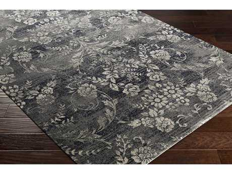 Surya Saverio Rectangular Navy, Medium Gray & White Area Rug
