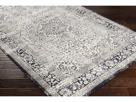 Surya Saverio Rectangular Medium Gray, Navy & Khaki Area Rug