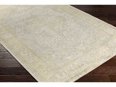 Surya Saverio Rectangular Bright Yellow, Mint & Camel Area Rug