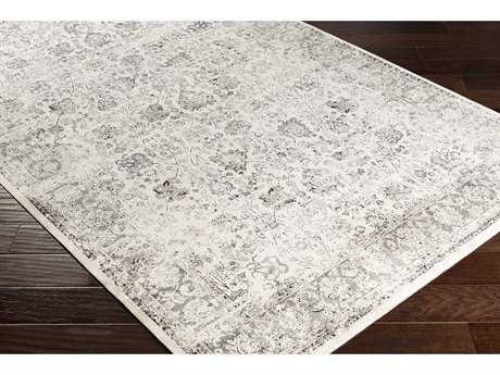 Surya Saverio Rectangular Khaki, Charcoal & Black Area Rug