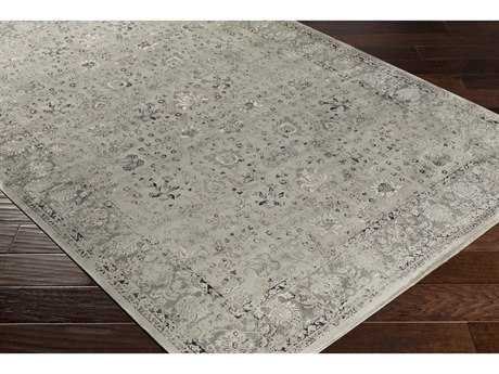 Surya Saverio Rectangular Light Gray, Medium Gray & Black Area Rug