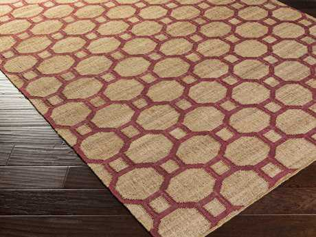 Surya Seaport Rectangular Mocha & Magenta Area Rug