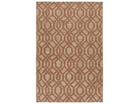 Surya Seaport Rectangular Rust Area Rug