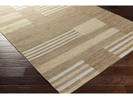 Surya Seaport Rectangular Camel, Khaki & Cream Area Rug