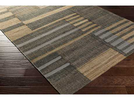 Surya Seaport Rectangular Medium Gray, Dark Brown & Black Area Rug