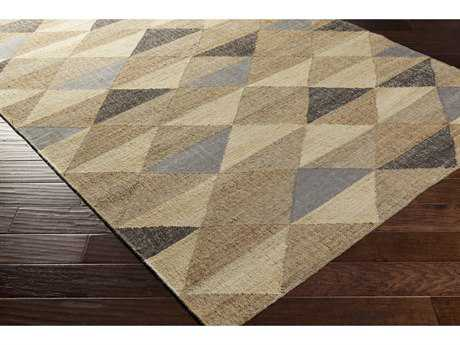 Surya Seaport Rectangular Khaki, Cream & Black Area Rug