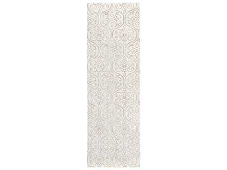 Surya Shibori 2'6'' x 8' Rectangular Ivory Runner Rug