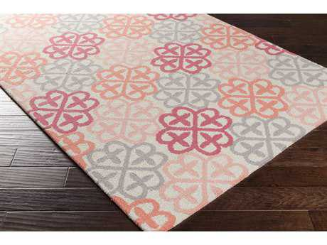 Surya Shiloh Rectangular Cream, Bright Pink & Peach Area Rug