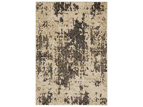 Surya Steinberger Rectangular Beige, Dark Brown & Camel Area Rug