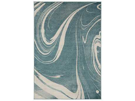 Surya Steinberger Rectangular Sage, Aqua & Cream Area Rug