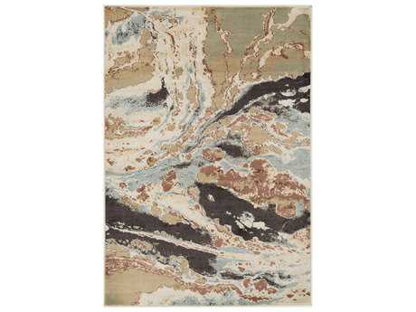 Surya Steinberger Rectangular Sage, Camel & Cream Area Rug