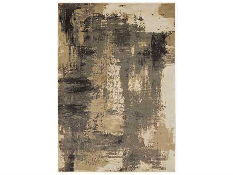 Surya Steinberger Rectangular Camel, Dark Brown & Beige Area Rug