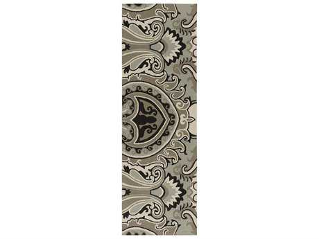 Surya Skye 2'6'' x 8' Rectangular Light Gray Runner Rug