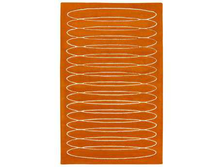 Surya Solid Bold Rectangular Burnt Orange Area Rug