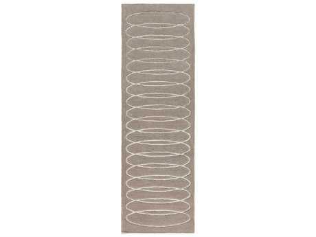 Surya Solid Bold 2'6'' x 8' Rectangular Taupe Runner Rug