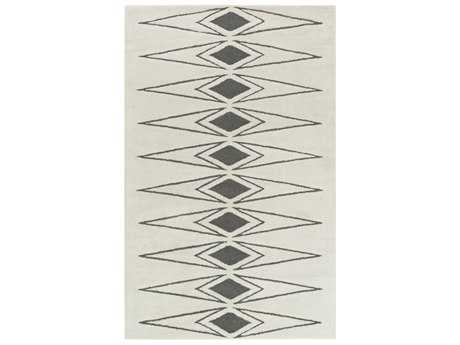 Surya Solid Bold Rectangular Ivory & Charcoal Area Rug