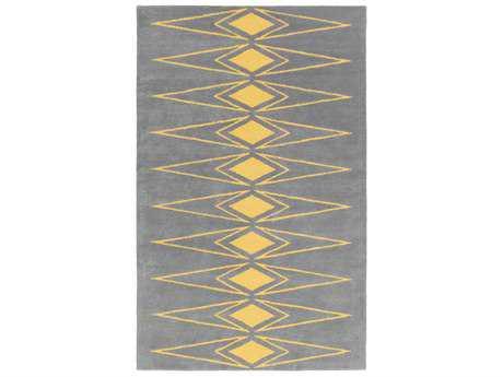 Surya Solid Bold Rectangular Medium Gray & Saffron Area Rug