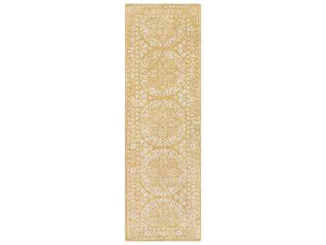 Surya Smithsonian 2'6'' x 8' Rectangular Mustard & Khaki Runner Rug