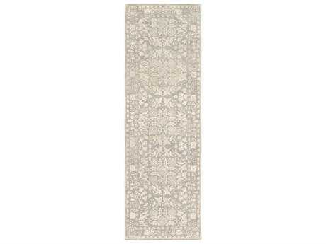 Surya Smithsonian 2'6'' x 8' Rectangular Medium Gray & Beige Runner Rug