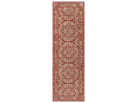 Surya Smithsonian 2'6'' x 8' Rectangular Dark Red & Cream Runner Rug