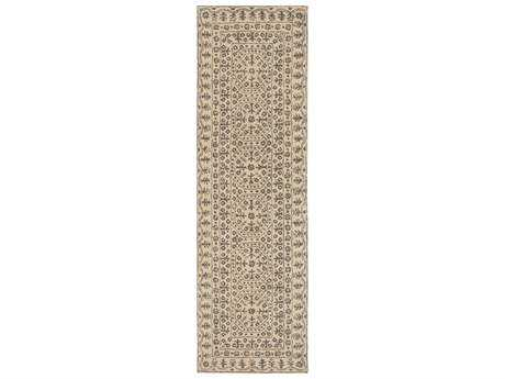 Surya Smithsonian 2'6'' x 8' Rectangular Charcoal & Khaki Runner Rug
