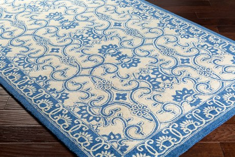 Surya Smithsonian Rectangular Bright Blue & Khaki Area Rug