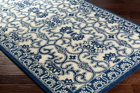 Surya Smithsonian Rectangular Navy & Khaki Area Rug