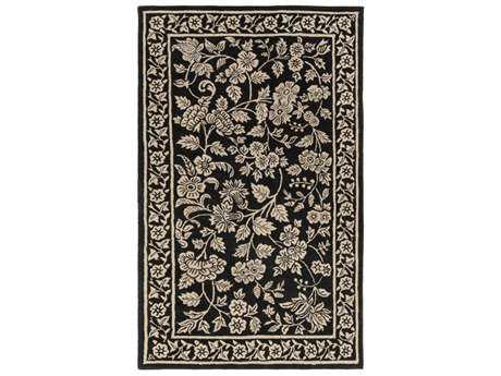 Surya Smithsonian Rectangular Black & Khaki Area Rug