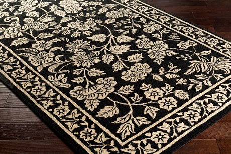 Surya Smithsonian Rectangular Black & Khaki Area Rug