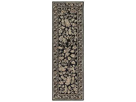 Surya Smithsonian 2'6'' x 8' Rectangular Black & Khaki Runner Rug