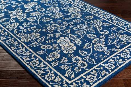 Surya Smithsonian Rectangular Navy, Black & Khaki Area Rug