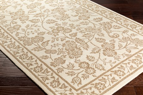 Surya Smithsonian Rectangular Cream & Camel Area Rug