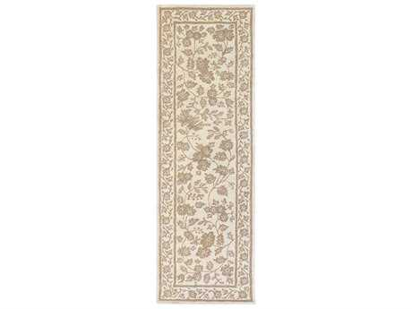 Surya Smithsonian 2'6'' x 8' Rectangular Cream & Camel Runner Rug