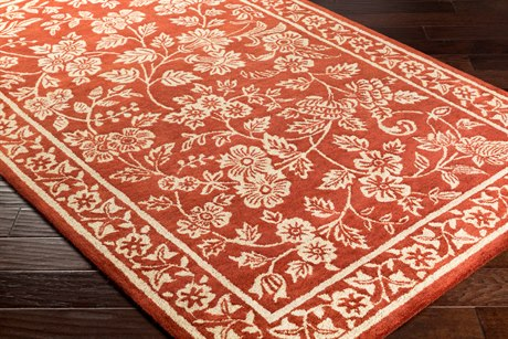 Surya Smithsonian Rectangular Dark Red & Beige Area Rug