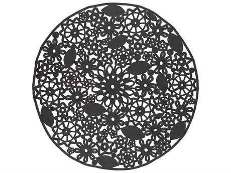 Surya Sanibel 8' Round Black Area Rug