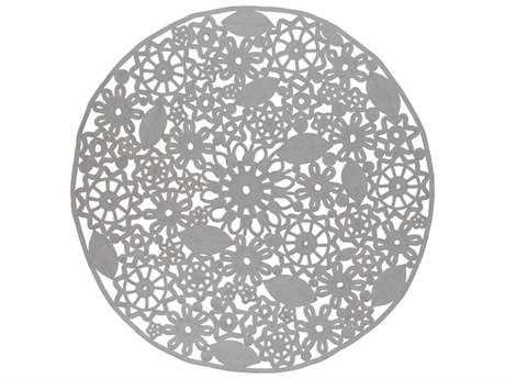 Surya Sanibel 8' Round Light Gray Area Rug