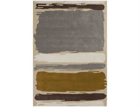 Surya Sanderson Rectangular Gray Area Rug