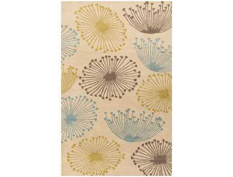 Surya Sanderson Rectangular White Area Rug