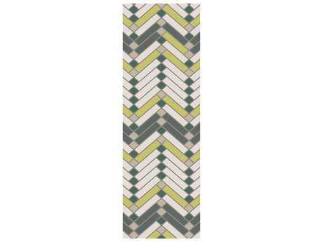 Surya Savannah 2'6'' x 8' Rectangular Lime Runner Rug