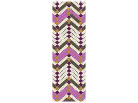 Surya Savannah 2'6'' x 8' Rectangular Magenta Runner Rug