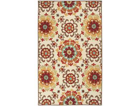 Surya Storm Rectangular White Area Rug