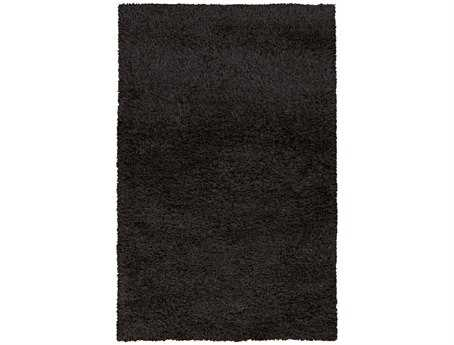 Surya Spider Rectangular Black Area Rug